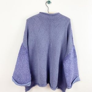 Free People NWOT Purple Knit Cuddle Up Pullover